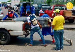کرونا در اکوادور؛ حمل تابوتها روی خودروها +فیلم