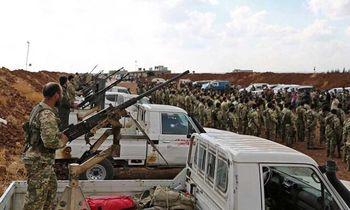 هزاران شورشی سوری و نیروی ارتش ترکیه وارد خاک سوریه شدند