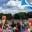 اسکاتلندیها هم علیه ترامپ تظاهرات کردند