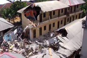 فیلم | تخریب هتلها در نیجریه به خاطر نقض قوانین قرنطینه کرونایی