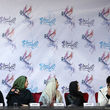 فیگور جالب لیندا کیانی با روسری در نشست خبری جشنواره + عکس