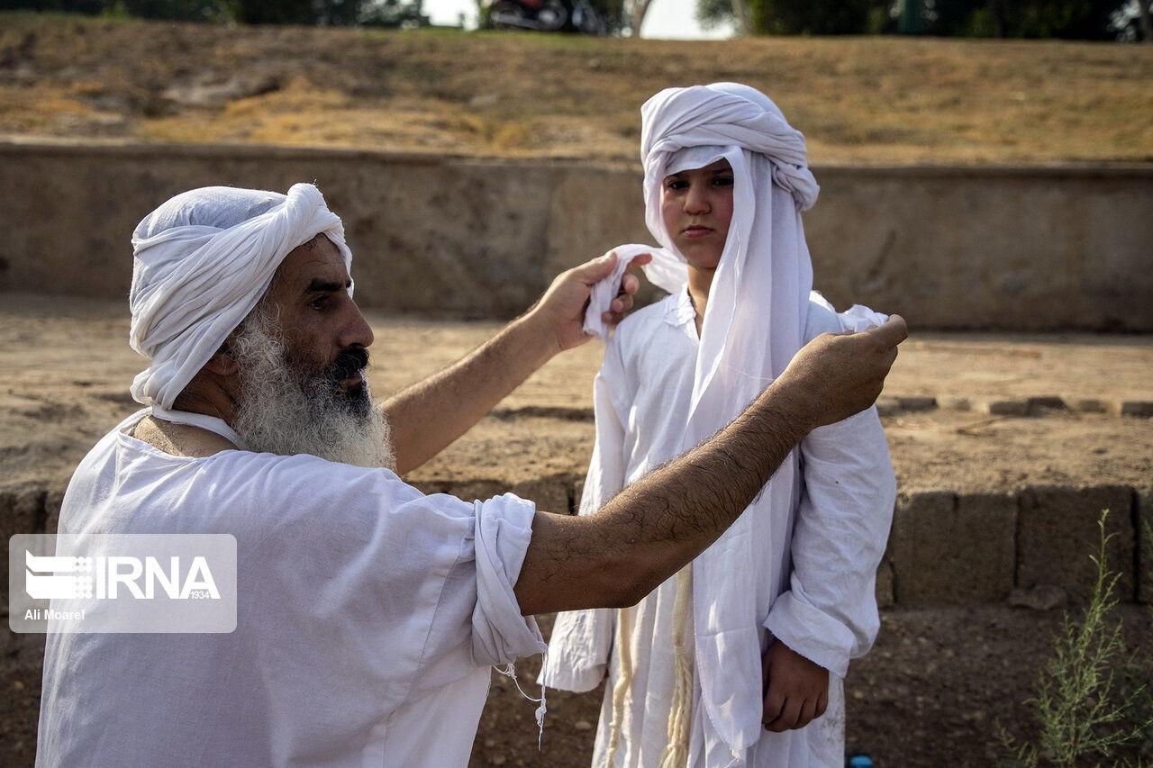 تصاویر: مراسم غسل تعمید کودکان مندایی در اهواز