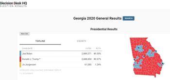 بایدن بالاخره در جورجیا از ترامپ پیش افتاد