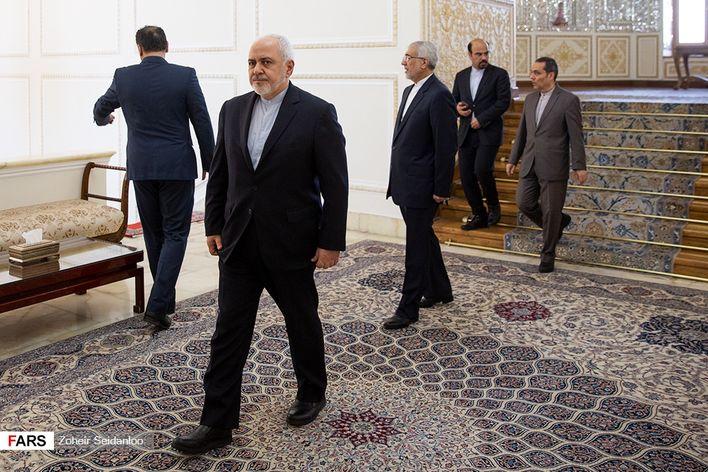 تصاویر دیدار ظریف و رئیس اتحادیه جهانی بینالمجالس