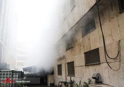 افزایش حجم دود در محل حادثه ساختمان وزارت نیرو + عکس
