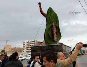 رونمایی از مجسمه سردار سلیمانی در اهواز (عکس)