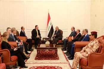 دیدار و گفتوگوی پمپئو و نخستوزیر عراق