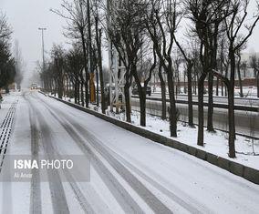 بارش برف بهاری در نخستین روزهای سال نو در اردبیل