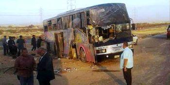 تصادف مرگبار اتوبوس زائران سوریه با تانکر سوخت +فیلم