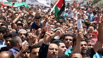 تظاهرات اردنی ها برای تعطیلی سفارت اسرائیل در امان