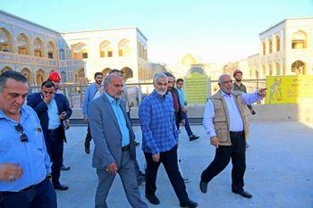 بازدید سردار سلیمانی از پروژه ساخت صحن حضرت زهرا در نجف