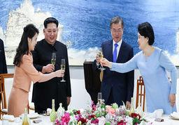 وقتی رهبر کره شمالی برای زنش غیرتی میشود! فیلم کنار زدن عکاس