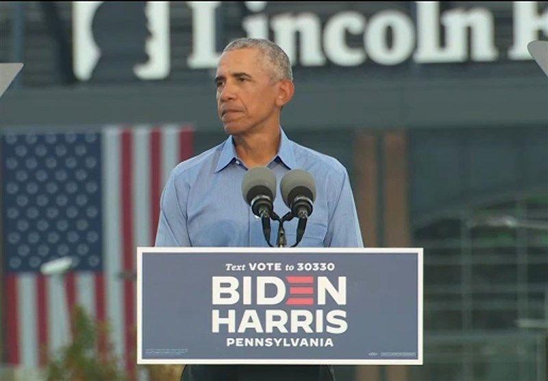 حضور اوباما در برنامه انتخاباتی بایدن در اورلاندو