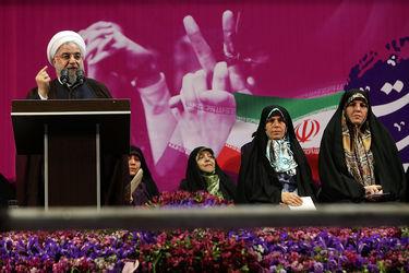 تصاویر همایش حامیان روحانی در ورزشگاه شهید شیرودی