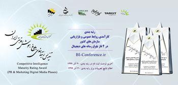ادارات روابط عمومی و بازاریابی سازمان های کشور در حوزه رسانه های دیجیتال توسط دبیرخانه کنفرانس هوش تجاری ایران رتبه بندی می شوند