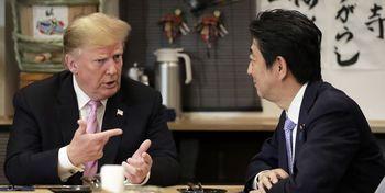 گفتوگوی شینزوآبه با ترامپ و جانسون پس از سفر روحانی