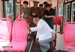 بازدید کیم جونگ اون از کارخانه تولید اتوبوس برقی
