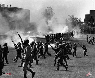 4 می 1970 : مقابله با شورش دانشجویان دانشگاه ایالت کنت آمریکا با 4 کشته و 11 زخمی