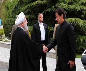 استقبال رسمی حسن روحانی از عمران خان، نخستوزیر پاکستان +تصاویر