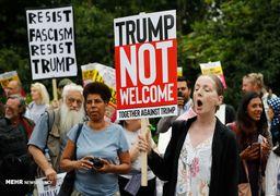 بالون تمسخر آمیز دونالد ترامپ در آسمان لندن