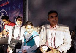 احمد عابدزاده به همراه دختر و دامادش! عکس