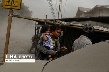 تصاویر فوران آتشفشان در فیلیپین