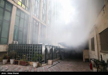 حریق در ساختمان برق حرارتی وزارت نیرو