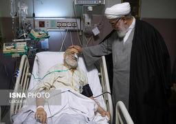 عیادت رئیس دفتر مقام معظم رهبری از حجت الاسلام والمسلمین قرائتی