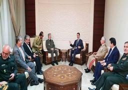 «بشار اسد» با وزیر دفاع ایران دیدار کرد
