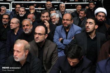 دومین شب عزاداری محرم با حضور رهبری و رؤسای قوا در حسینیه امام(ره)