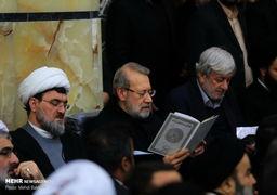 تصاویر مراسم مقاممعظم رهبری برای بزرگداشت مرحوم محمد مومن