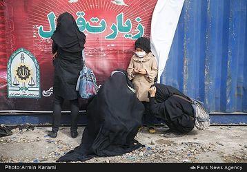 زائران اربعین در مرز مهران