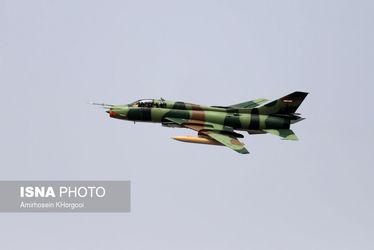 تمرین نیروهای هوایی ارتش و سپاه برای رژه هفته دفاع مقدس