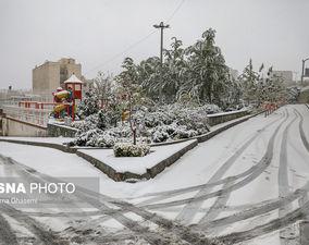 گزارش تصویری از اولین برف پاییزی پایتخت
