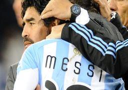 حمایت قاطع مارادونا از نابغه : ارزش مسی را پایین نیاورید