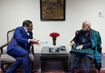 شمخانی در دیدار با حامد کرزی: آمریکا هیچگاه خیرخواه مردم افغانستان نبوده است