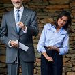 بازدید شاه و ملکه اسپانیا از یک روستا
