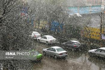 بارش نخستین برف پاییزی در تهران