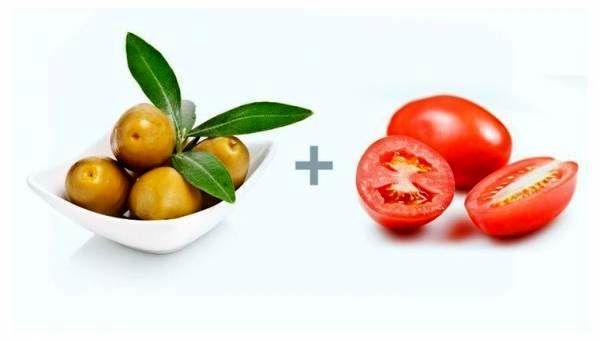 زیتون و گوجه فرنگی