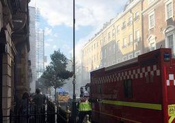 آتش سوزی در ساختمان شش طبقه لندن / 72 آتش نشان تحت عملیات