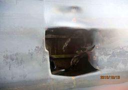 تصاویر جدید از محل اصابت موشکها به نفتکش ایرانی