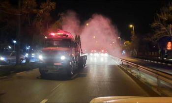 جزئیات ضدعفونی پایتخت توسط  آتشنشانی