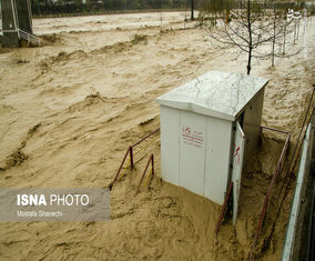 تصاویر سیلاب و آبگرفتگی در ساری